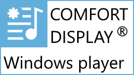 New release of our COMFORT DISPLAY Windows player